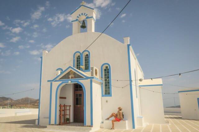 Kykladeninsel Milos Pollonia Kirche
