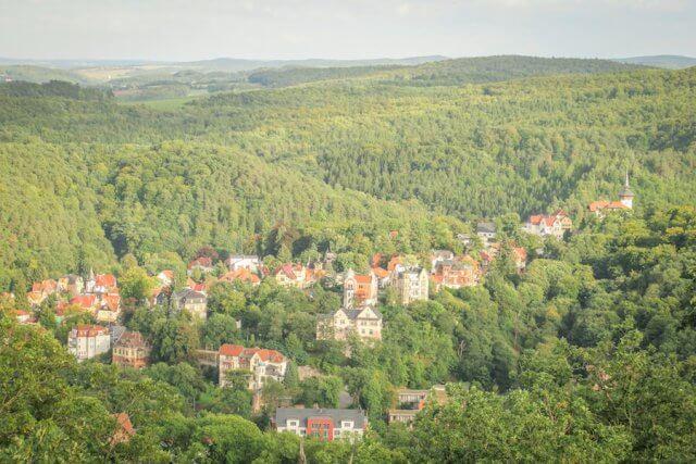 Roadtrip Deutschland Wartburg Aussicht Tal