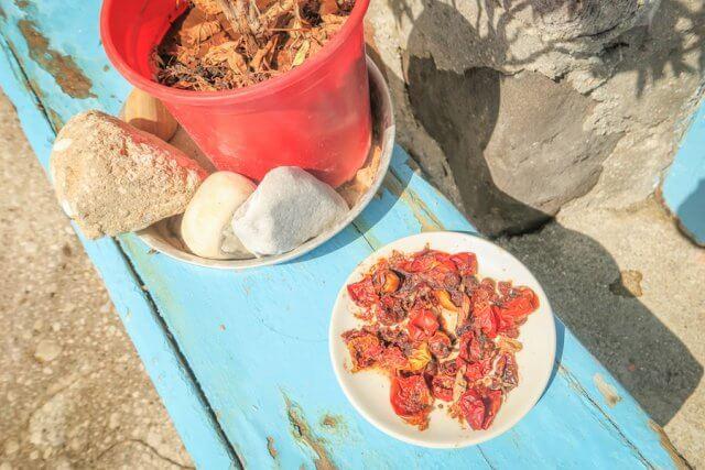 Sifnos Griechenland Kastro getrocknete Tomaten