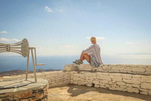 Sifnos Griechenland Agios Andreas Ausblick