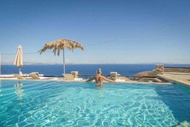 Sifnos Griechenland Windmill Bellavista Hotel Pool