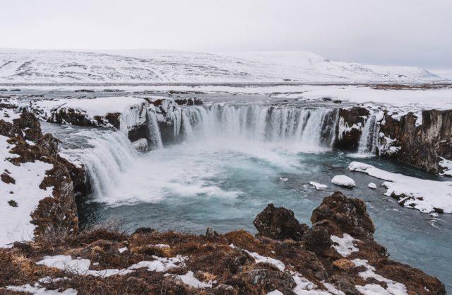 Island Rundreise Godafoss Wasserfall