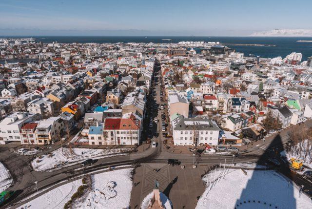 Island Rundreise Reykjavik Hallgrimskirche Aussicht