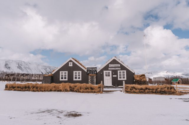 Island Urlaub Halbinsel Snaefellsnes Arnarstapi Restaurant