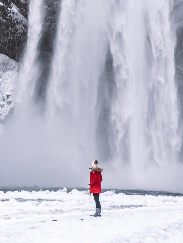 Island Wasserfall Skogafoss