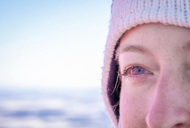 Lappland im Winter Aussicht Heißluftballon