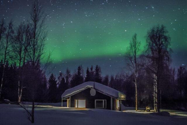 Lappland im Winter Polarlicht