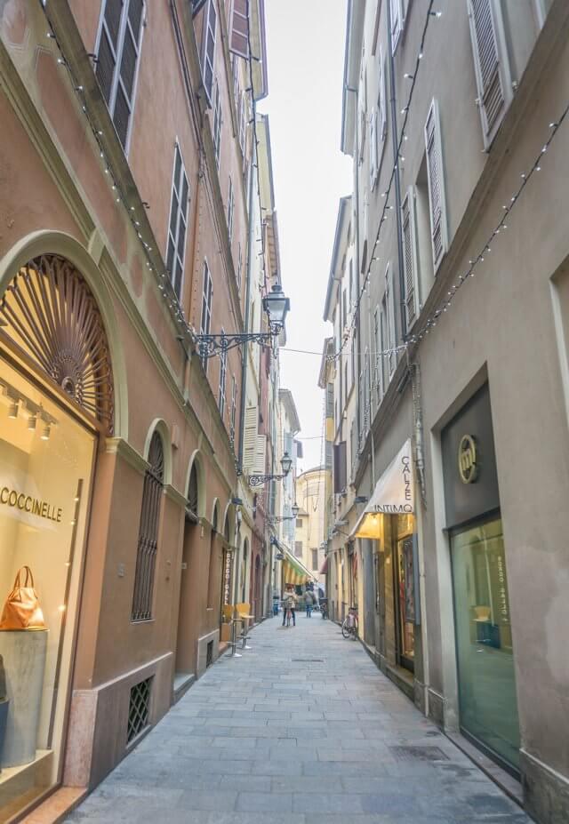 Norditalien Parma Kulinarisch Gassen