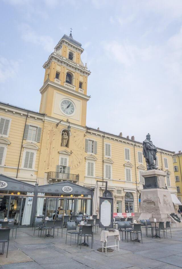 Norditalien Parma Kulinarisch Piazza Garibaldi