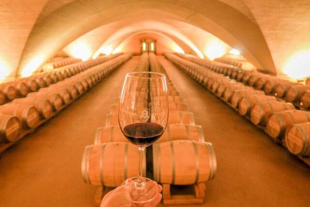 Navarra Spanien Bodega Otazu Pamplona Weingut Weinkathedrale