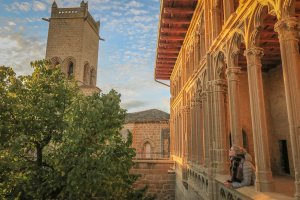 Navarra Spanien Königspalast Olite
