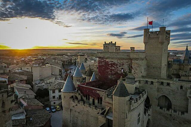 Navarra Spanien Palacio de Olite Aussicht