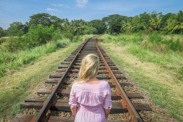 Sri Lanka Ayurveda Gleise Zug