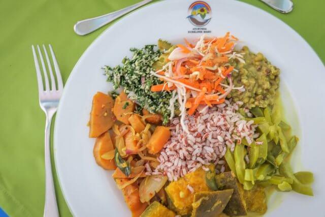 Sri Lanka Ayurveda Paradise Maho Ayurveda Kur Hotel Essen vegetarisch