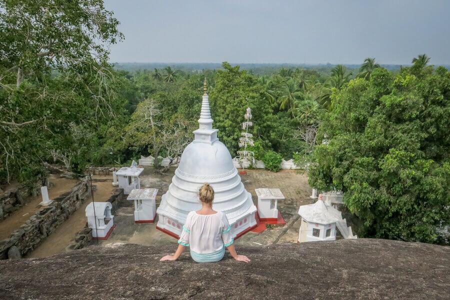 Sri Lanka Ayurveda Paradise Maho Ayurveda Kur Ausflug Tempel Kaikawala Tempel Stupa