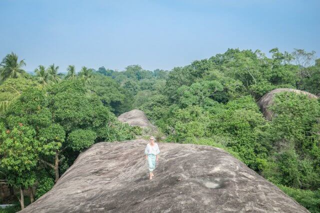 Sri Lanka Ayurveda Paradise Maho Ayurveda Kur Ausflug Tempel Kaikawala Tempel Aussicht