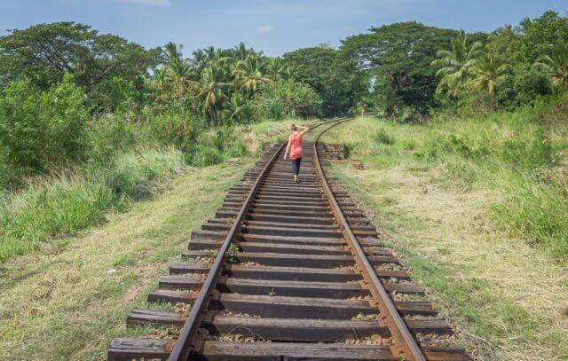 Sri Lanka Rundreise Urlaub Zug Schienen