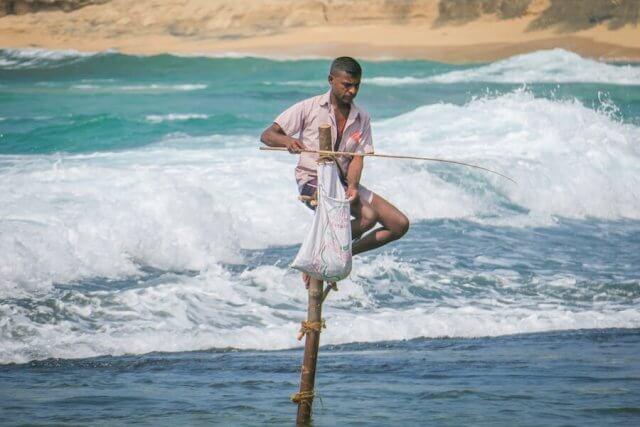 Sri Lanka Urlaub Unawatuna Stockfischer