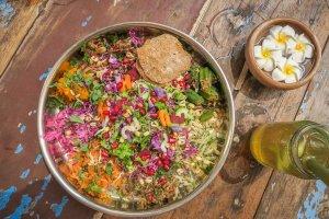 Sri Lanka Urlaub Galle Ponnies Kitchen Cafe Restaurant Salat Thali