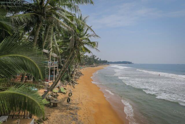 Sri Lanka Urlaub Galle Bara Beach Home Strandhütte Aussicht Meer