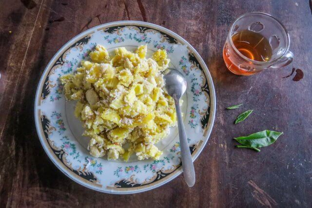 Sri Lanka Urlaub Hikkaduwa Teeplantage Essen Jackfruit
