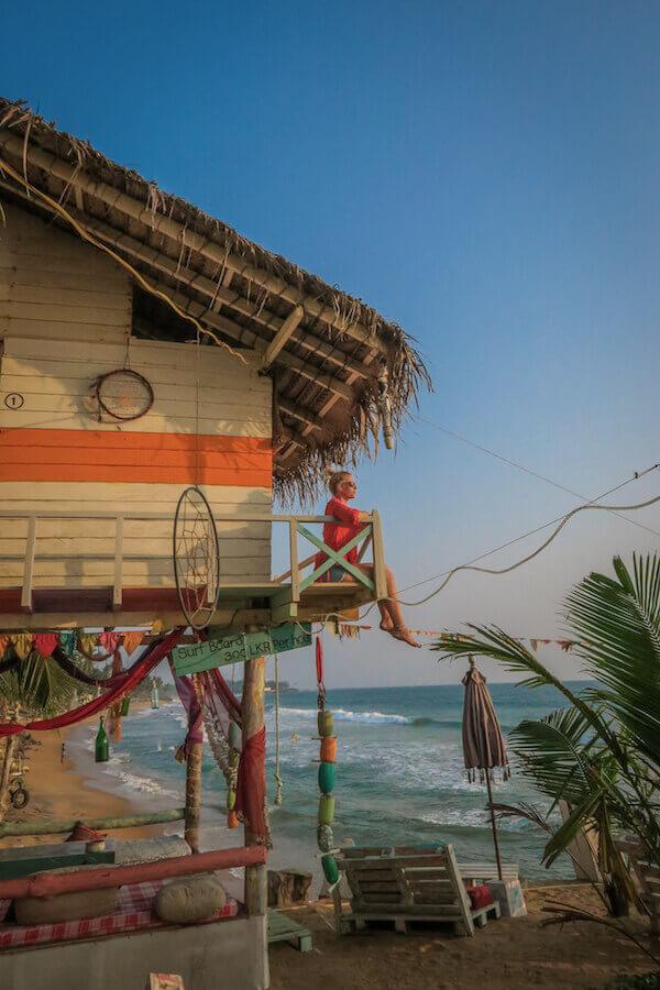 Urlaub Sri Lanka Galle Bara Beach Home Strandhütte