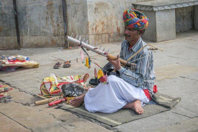 Indien Reisen Udaipur Altstadt Musik