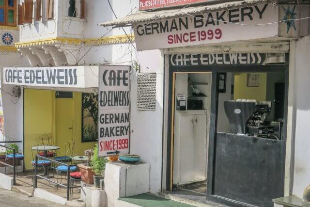 Indien Reisen Udaipur Cafe Edelweiss
