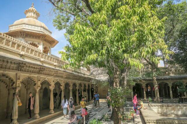 Indien Reisen Udaipur Royale Palace Besichtigung