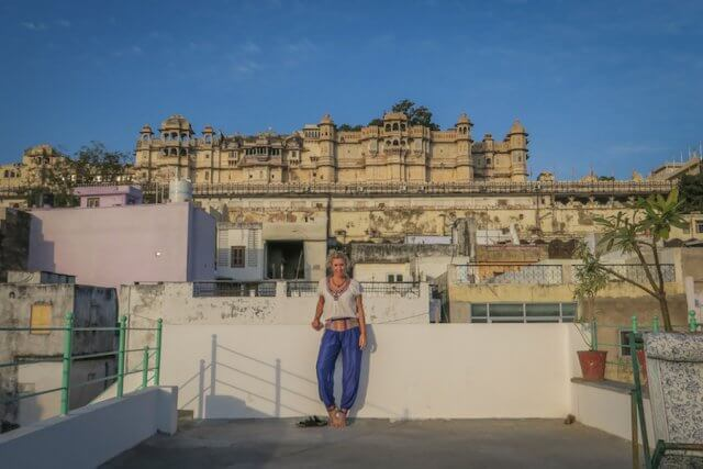 Indien Reisen Udaipur Little Garden Guesthouse Palast