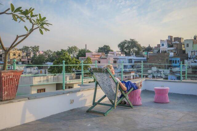 Indien Reisen Udaipur Little Garden Guesthouse Dachterrasse