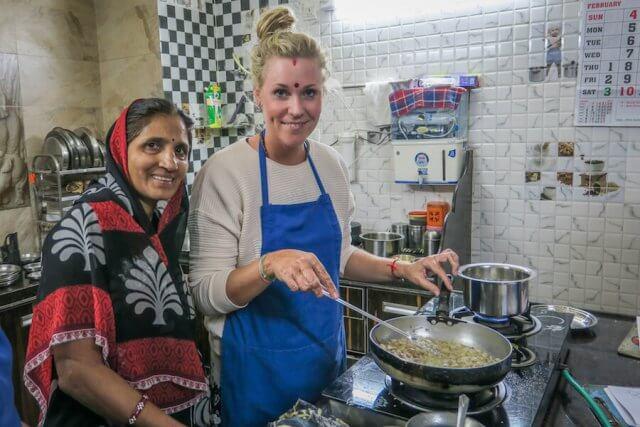 Indien Reisen Udaipur Shashi Cooking Class