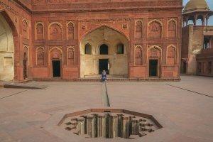 Indien Urlaub_Delhi Sehenswuerdigkeiten_Taj Mahal Agra Red Fort Architektur