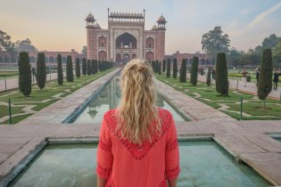 Indien Urlaub_Delhi Sehenswuerdigkeiten_Taj Mahal Agra Royal Gate