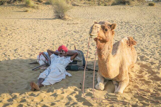 Rajasthan Rundreise Jaisalmer Kamelsafari Camp