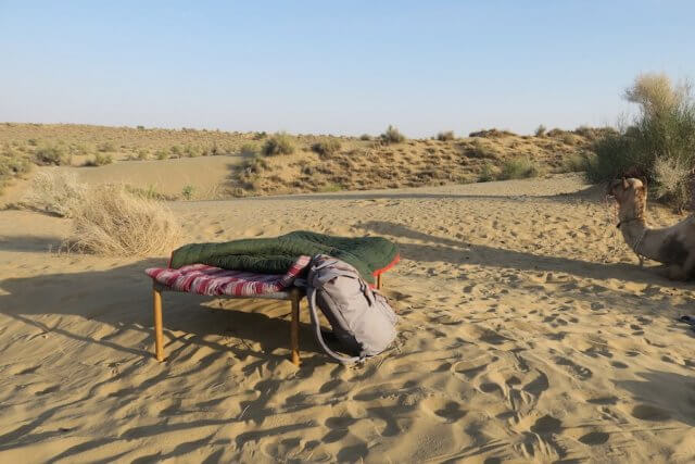 Rajasthan Rundreise Jaisalmer Kamelsafari Camp Bett
