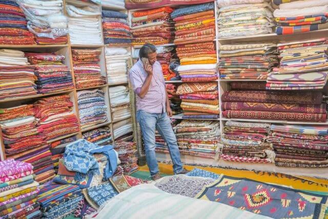 Rajasthan Rundreise Jaisalmer Teppichgeschäft