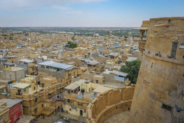 Rajasthan Rundreise Jaisalmer Fort Aussichtspunkt