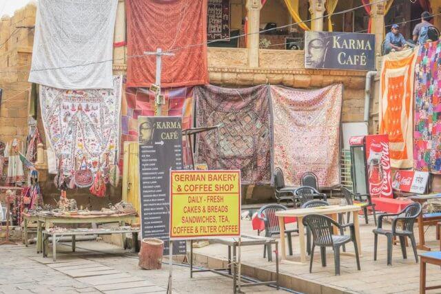 Rajasthan Rundreise Jaisalmer Fort Geschäfte