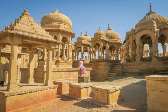 Rajasthan Rundreise Jaisalmer Bada Bagh Grabmäler