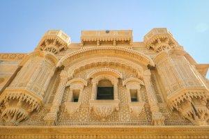Rajasthan Rundreise Jaisalmer Havelis Sandstein Verzierungen