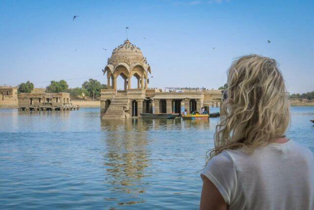 Rajasthan Rundreise Jaisalmer Gadisar See