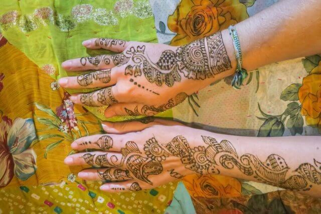 Rajasthan Rundreise Jaisalmer Henna Tattoo