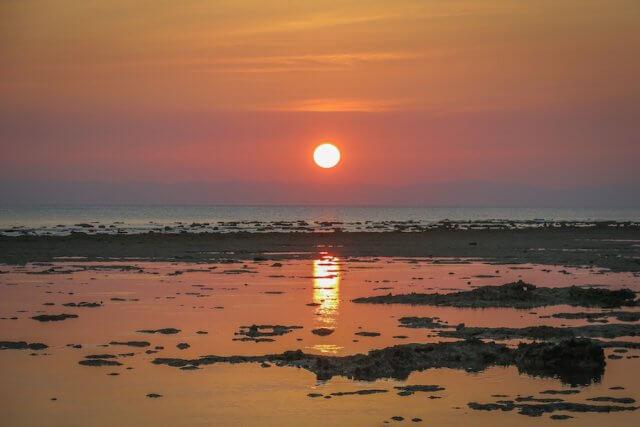 Andamanen Inseln Sonnenuntergang Neil Island Strand