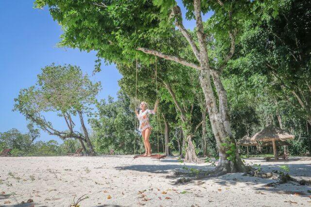 Andamanen Inseln Neil Island Silver Sand Beach Schaukel Paradies
