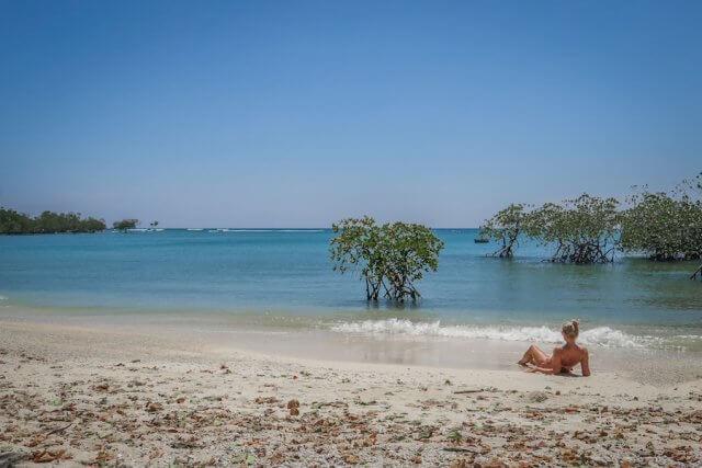 Andamanen Inseln Neil Island Silver Sand Beach Strand Sonnen