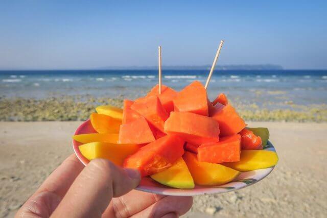 Andamanen Inseln Laxmanpur Beach Fruchtsalat
