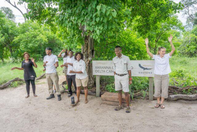 Botswana Okavango Delta Safari And Beyond Xaranna Lodge Empfang