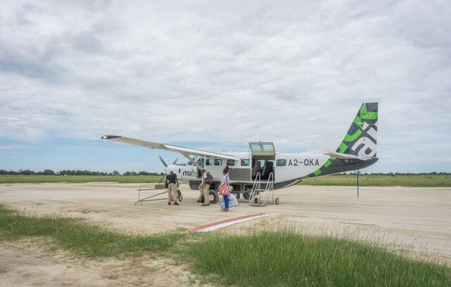 Botswana Okavango Delta Safari Flug