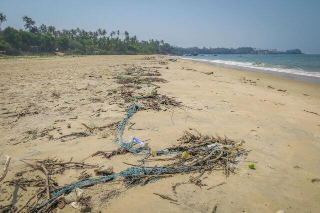 Goa Indien Paradise Beach Müll